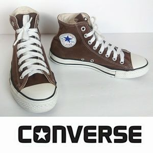 Converse Unisex Brown Mid Tops M7 W9 Sneakers